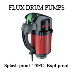 Flux drum and container pumps